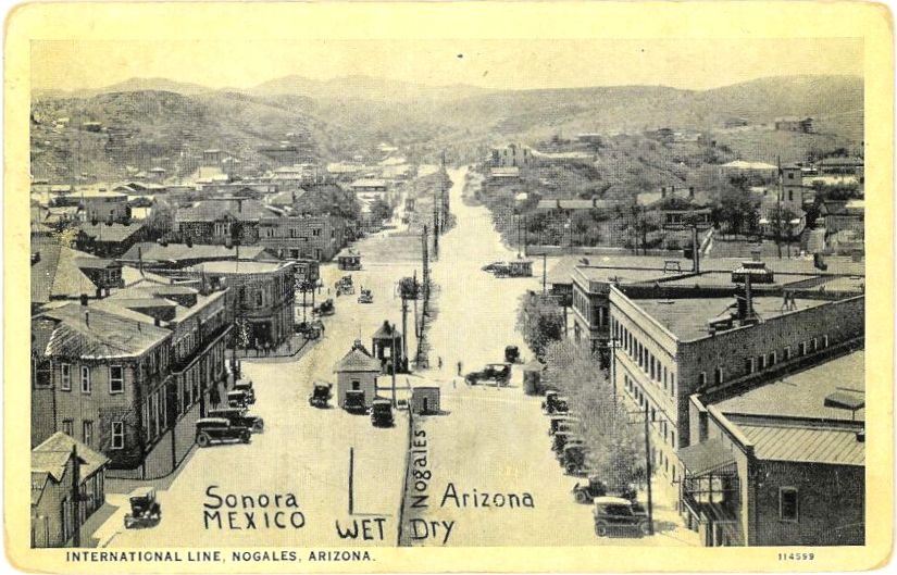 Postcard of Ambos Nogales, ca 1915