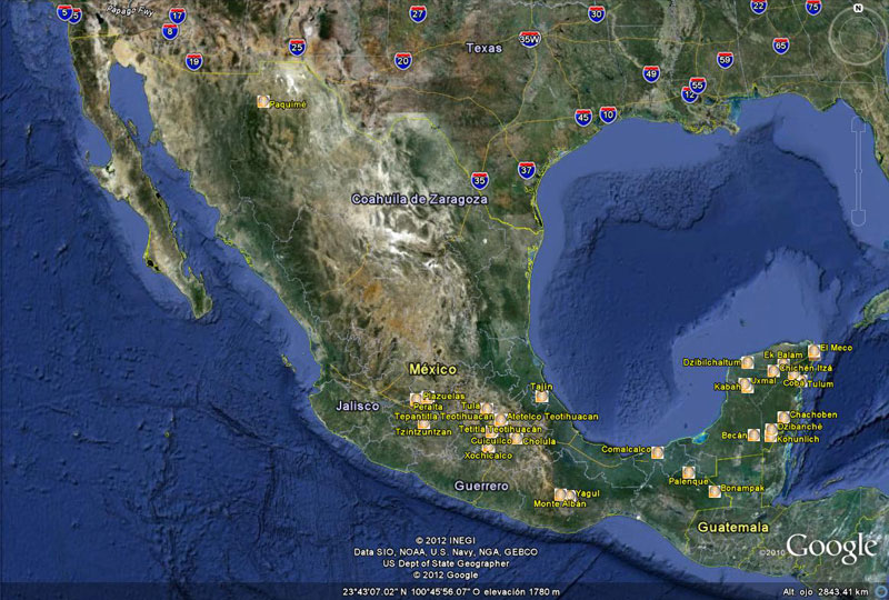 Many of Mexicos archaeological sites now on Google Street View – View Street Map Google Earth
