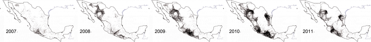 Mapping by Jesús Espinal Enríquez in Science magazine. Click to enlarge.