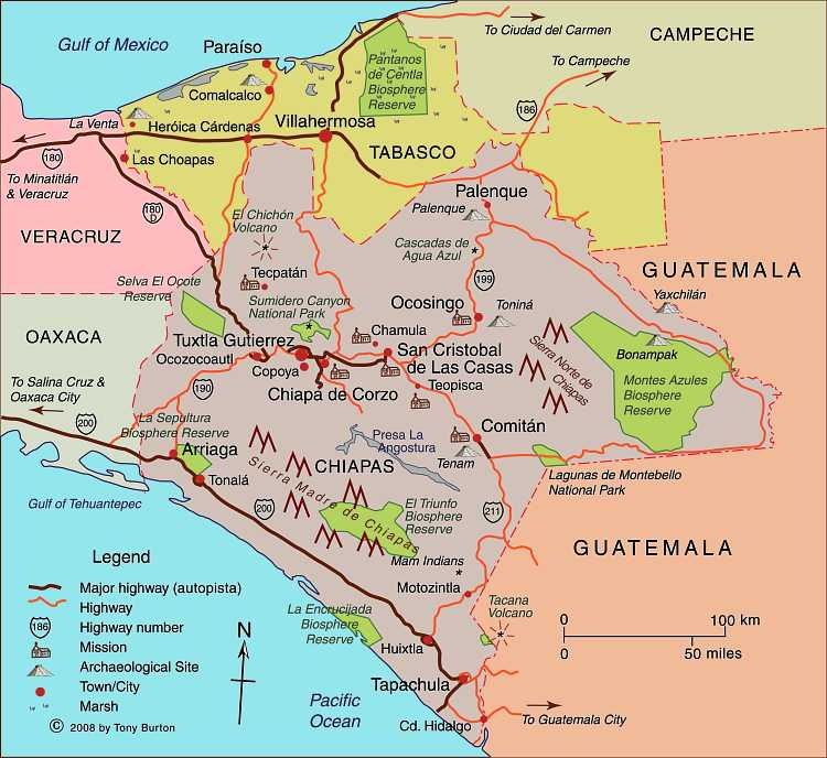 Chiapas Mexico Map Chiapas map and index page | Geo Mexico, the geography of Mexico
