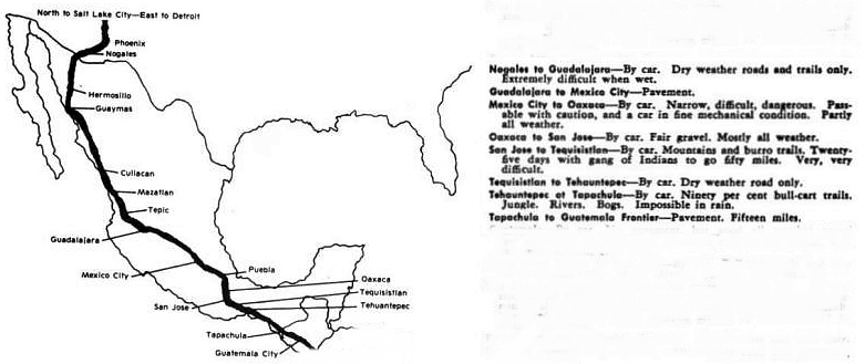 Mexican section of Pan-American Highway, 1941 (from Richardson's Adventure South)