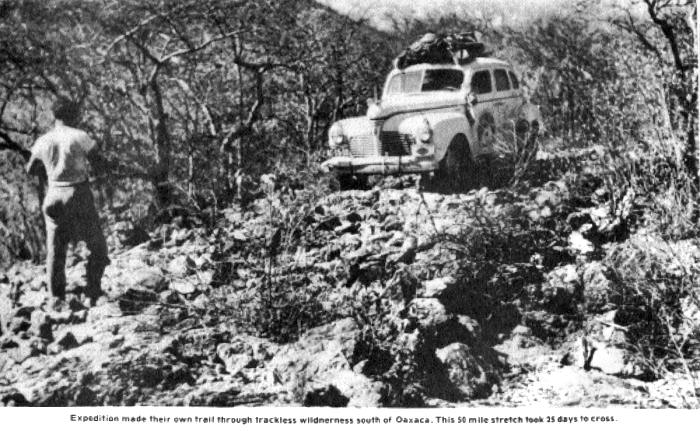 Oaxaca section of Pan-American Highway, 1941