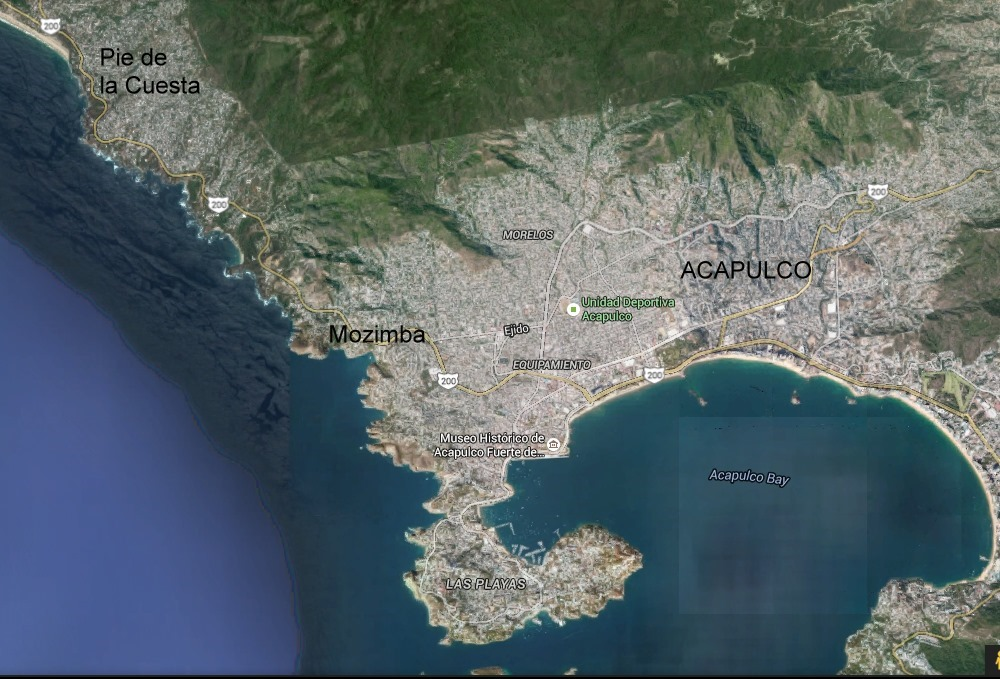 Acapulco Google Earth acapulco Geo Mexico the