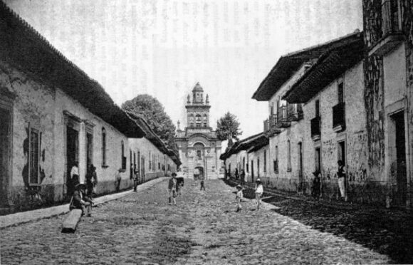 Wilhelm Schiess: Street in Patzcuaro (December 1899)