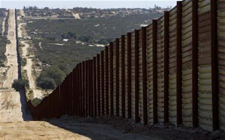Border fence near Campo, California. Credit: Fred Greaves/Reuters