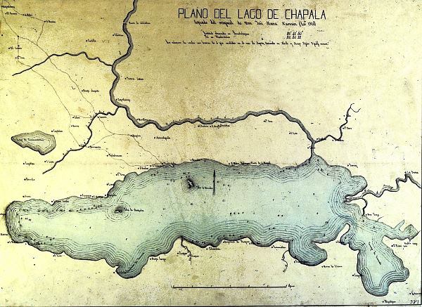 Copy of Narvaez' map of Lake Chapala