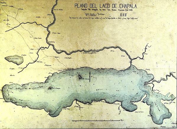 Copy of Narvaez' map of Lake Chapala