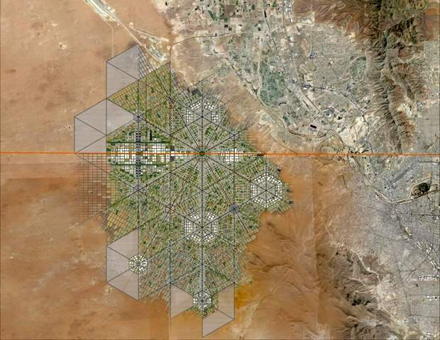 Masterplan for trans-border city. (Fernando Romero Enterprise)